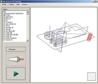 Capture d'écran FAST CNC – MILLING 3D
