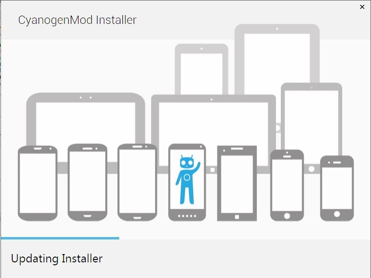 Capture d'écran CyanogenMod Installer Mobile