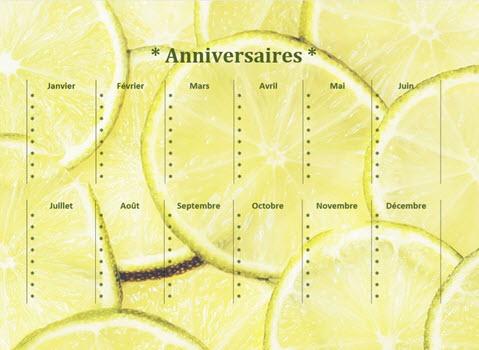 Capture d'écran Calendrier d'anniversaires