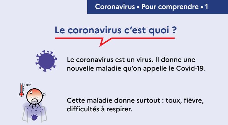 Capture d'écran Affiche prévention Coronavirus – C'est quoi et comment ça s'attrape ?