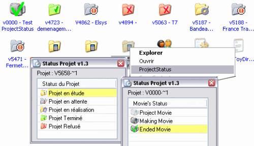 Capture d'écran ProjectStatus