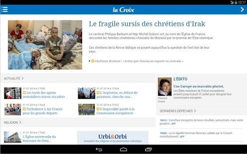 Capture d'écran La Croix Mobile