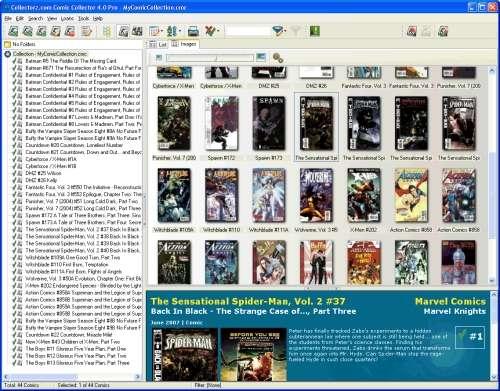 Capture d'écran Collectorz.com Comic Collector