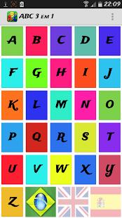 Capture d'écran Alfabeto 3 em 1