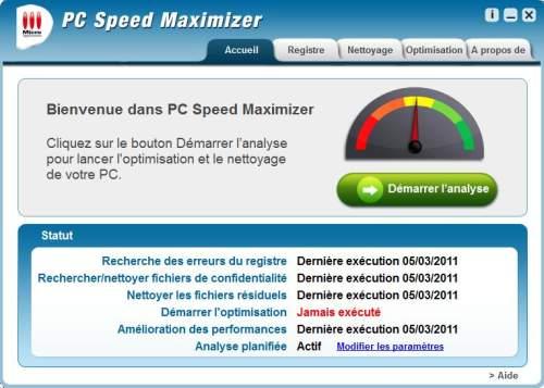 Capture d'écran PC Speed Maximizer