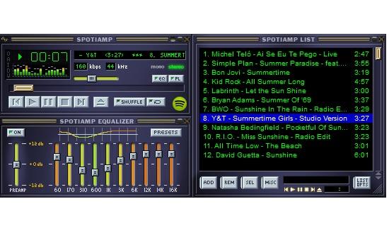 Capture d'écran Spotiamp