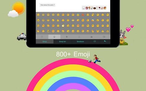 Capture d'écran Clavier Emoji