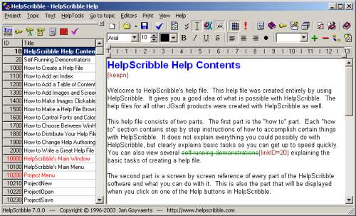 Capture d'écran HelpScribble