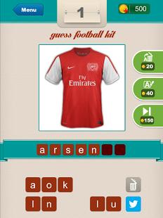 Capture d'écran Guess Football Club's Kit ?