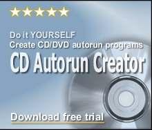 Capture d'écran CD Autorun Creator