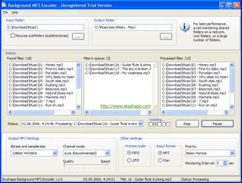 Capture d'écran Background MP3 Encoder