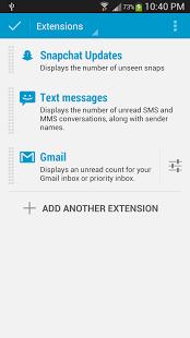 Capture d'écran DashClock Snapchat Extension
