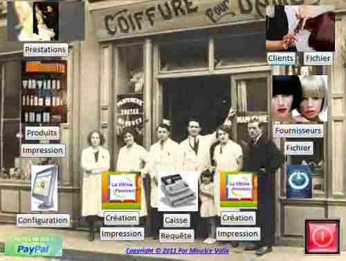 Capture d'écran Gestion simplifiée de salon de coiffure