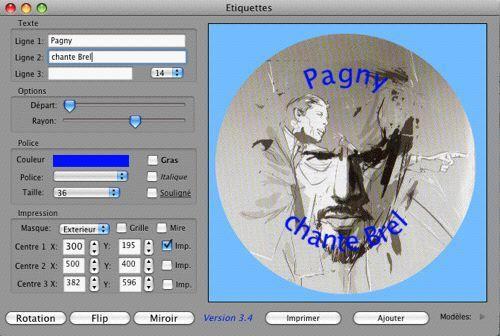 Capture d'écran ietiquette Mac