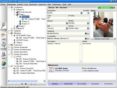 Capture d'écran Inventaire Pro