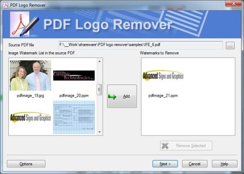 Capture d'écran Remove Watermark from PDF