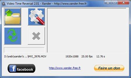 Capture d'écran Video Time Reversal