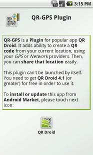 Capture d'écran QR-GPS Plugin™