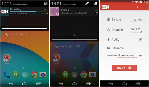 Capture d'écran Rec. (Screen Recorder) Android