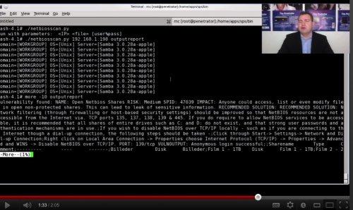Capture d'écran Netbios Share Scanner