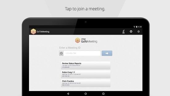 Capture d'écran GoToMeeting Android