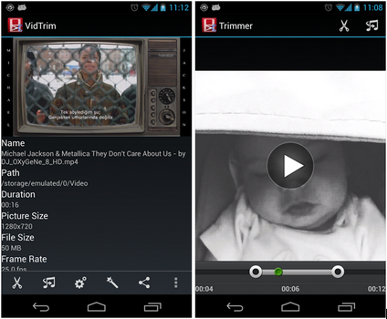 Capture d'écran VidTrim Android