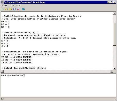 Capture d'écran Googolplex