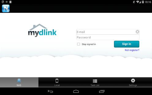 Capture d'écran Mydlink Access-NAS