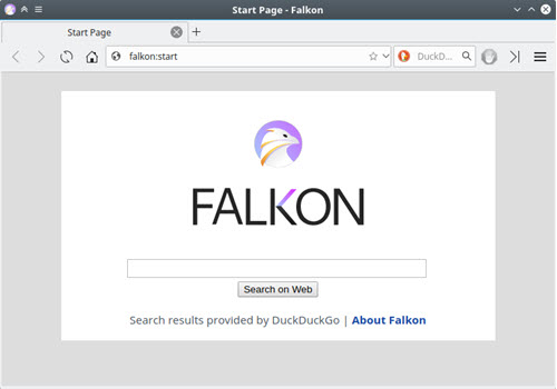 Capture d'écran Falkon