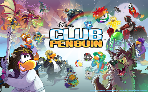 Capture d'écran Club Penguin