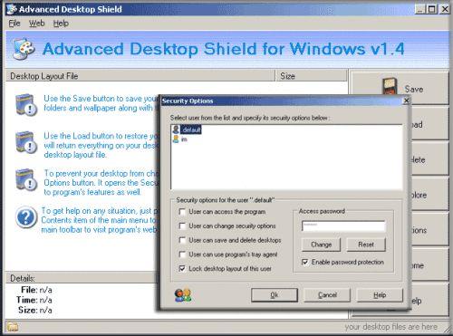 Capture d'écran Advanced Desktop Shield