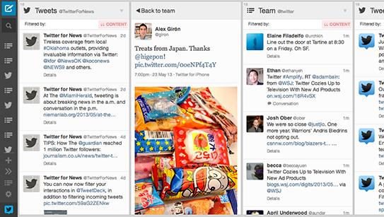 Capture d'écran TweetDeck