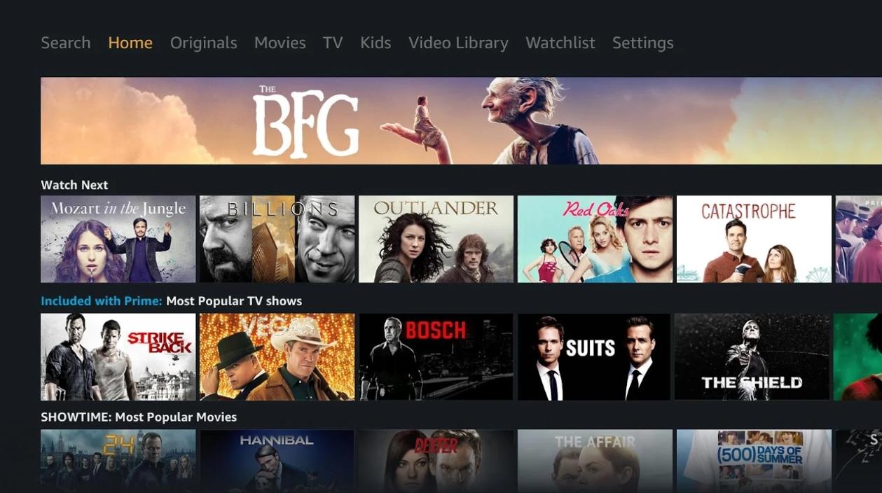 Capture d'écran Prime Video – Android TV