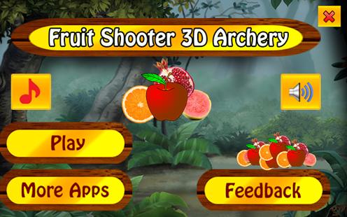 Capture d'écran Tireur de fruit 3d tir à l'arc