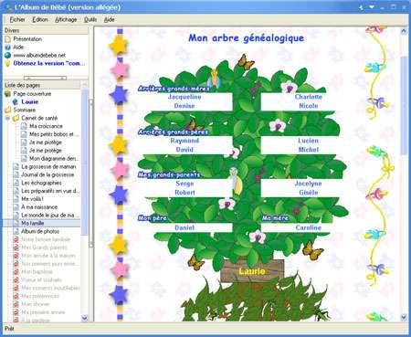 Capture d'écran Album de Bébé multimédia