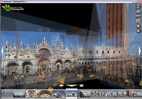 Capture d'écran PhotoSynth