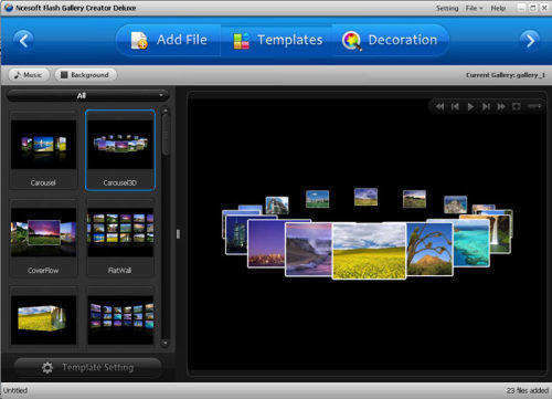 Capture d'écran XML Flash Gallery Creator