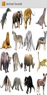 Capture d'écran Des sons d'animaux