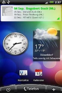 Capture d'écran Birthday Info Widget