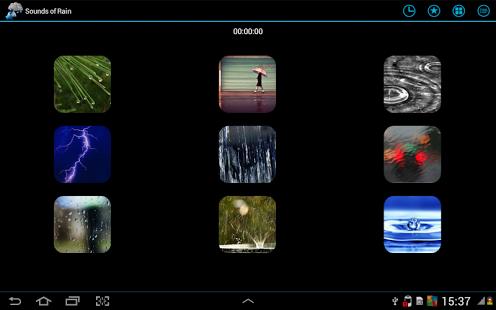 Capture d'écran Bruits de la pluie