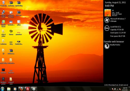 Capture d'écran MetroSidebar