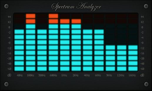 Capture d'écran Spectrum Analyzer