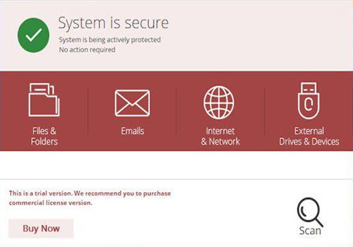 Capture d'écran Quick Heal Internet Security