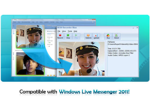 Capture d'écran MSN Recorder Max