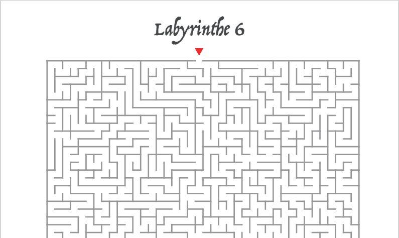 Capture d'écran Labyrinthes à imprimer