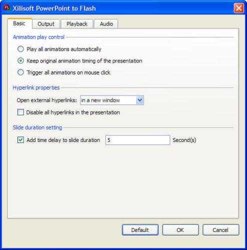 Capture d'écran Xilisoft Powerpoint en Flash
