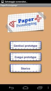Capture d'écran Paper  Prototype