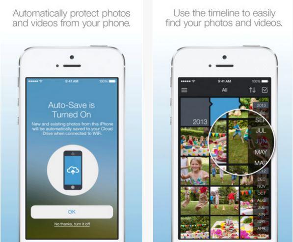 Capture d'écran Amazon Cloud Drive Photos iOS