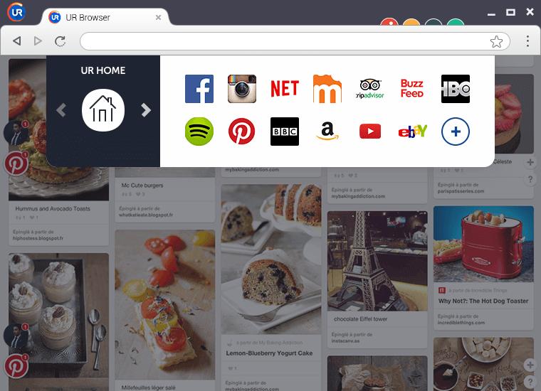 Capture d'écran UR Browser