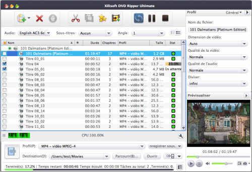 Capture d'écran Xilisoft DVD Ripper Ultimate pour mac